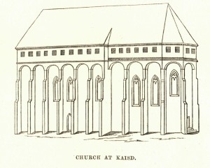 Note the high windows from which defenders could fire, and the arches above the buttresses, behind which were openings allowing things to be dropped or poured onto attackers.